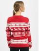 Urban Classics Swetry Ladies Norwegian Christmas czerwony