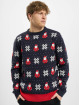 Urban Classics Swetry Nicolaus And Snowflakes niebieski