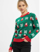Urban Classics Swetry Ladies Santa Christmas zielony