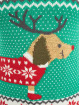Urban Classics Swetry Ladies Sausage Dog Christmas zielony