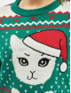 Urban Classics Swetry Ladies Kitty Christmas zielony