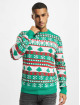 Urban Classics Swetry Snowflake Christmas Tree zielony