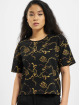 Urban Classics T-Shirt Ladies AOP Luxury Print Short Oversized Tee black