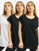 Urban Classics T-Shirt Ladies Extended Shoulder 3-Pack noir