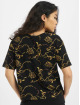 Urban Classics T-shirt Ladies AOP Luxury Print Short Oversized Tee svart