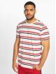 Urban Classics T-Shirt Yarn Dyed Skate Stripe weiß
