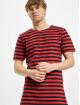 Urban Classics T-Shirty Stripe Tee czerwony