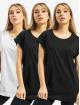 Urban Classics Tričká Ladies Extended Shoulder 3-Pack èierna