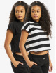 Urban Classics Tričká Stripe Short 2-Pack èierna