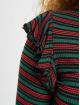 Urban Classics Tričká dlhý rukáv Rib Striped Volant zelená