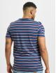 Urban Classics Tričká Fast Stripe Pocket modrá