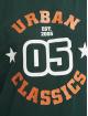Urban Classics Trika College Print Tee zelený