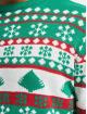 Urban Classics trui Snowflake Christmas Tree groen