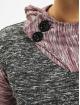 VSCT Clubwear Bluzy z kapturem 2 Btn Hooded Moulinee 2 Colour czerwony