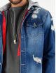 VSCT Clubwear Džínová bunda 2 In 1 Hybrid modrý