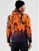 VSCT Clubwear Lightweight Jacket Graded Tech Fleece Hooded Leaf-Camo orange