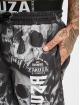 Yakuza Bermudas de playa Muerte Skull Flex negro