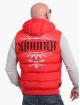 Yakuza Bodywarmer Felt Logo V02 Quilted Hooded rood