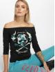 Yakuza Camiseta de manga larga Flying Skull Off Shoulder negro 0