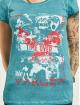 Yakuza Camiseta Time Over Dye Racer Back turquesa