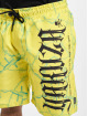 Yakuza Shorts Barbwire Board gelb