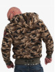Yakuza Sweat capuche zippé Red Flag Sherpa camouflage