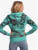 Yakuza Sweat capuche zippé Butterfly Meadow turquoise