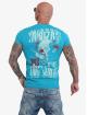 Yakuza t-shirt Piss Off blauw