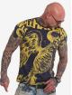 Yakuza T-Shirt Power Over Us Allover bleu