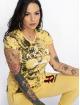 Yakuza T-Shirt Flower Skull V-Neck jaune 0