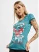 Yakuza T-Shirt Time Over Dye Racer Back turquoise