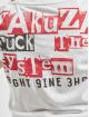 Yakuza T-Shirty Fuck The System V Neck bialy