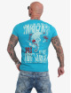 Yakuza T-Shirty Piss Off niebieski