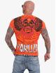 Yakuza T-Shirty Burning Skull pomaranczowy