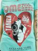 Yakuza T-Shirty Painted Gun Dye V Neck turkusowy