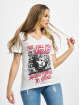 Yakuza T-skjorter Stone V Neck hvit