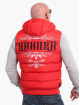 Yakuza Vesty Felt Logo V02 Quilted Hooded červený
