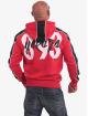 Yakuza Zip Hoodie Vintage Two Face czerwony