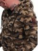 Yakuza Zip Hoodie Red Flag Sherpa kamouflage