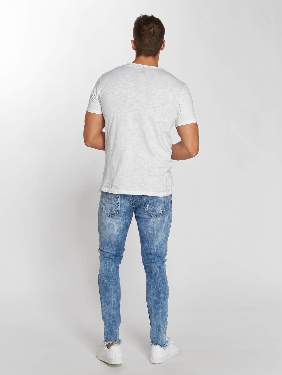 Aarhon Dżinsy straight fit Washed niebieski