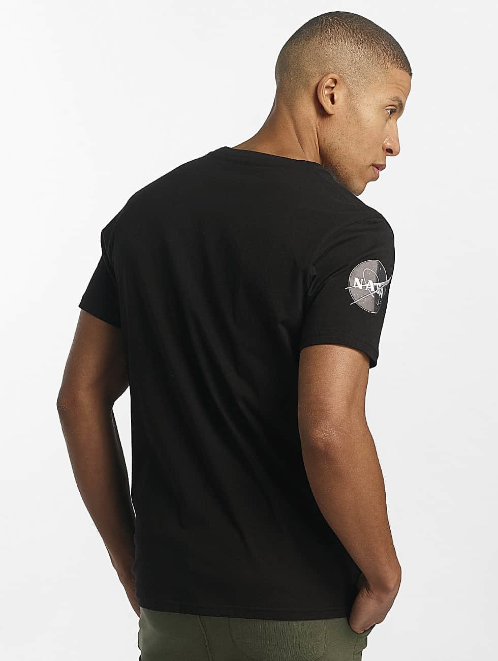 Alpha Industries Camiseta NASA negro