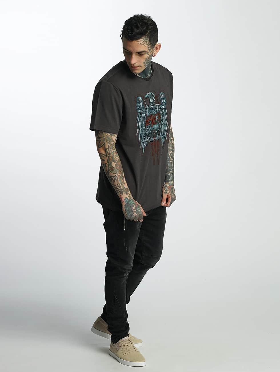 Amplified Camiseta Slayer Metal Edge gris