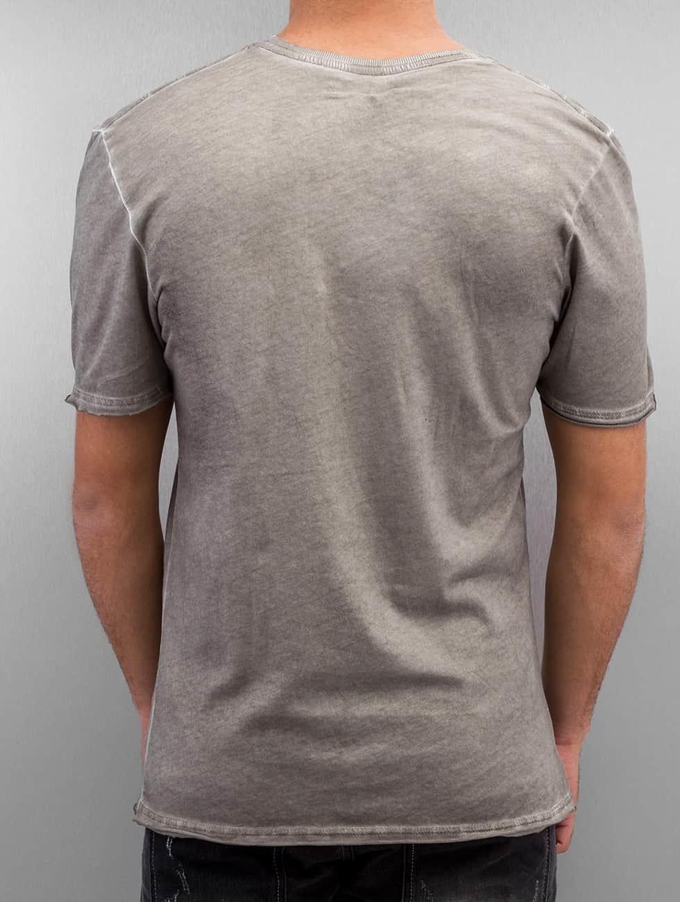 Amplified T-Shirt Winged Biker grau