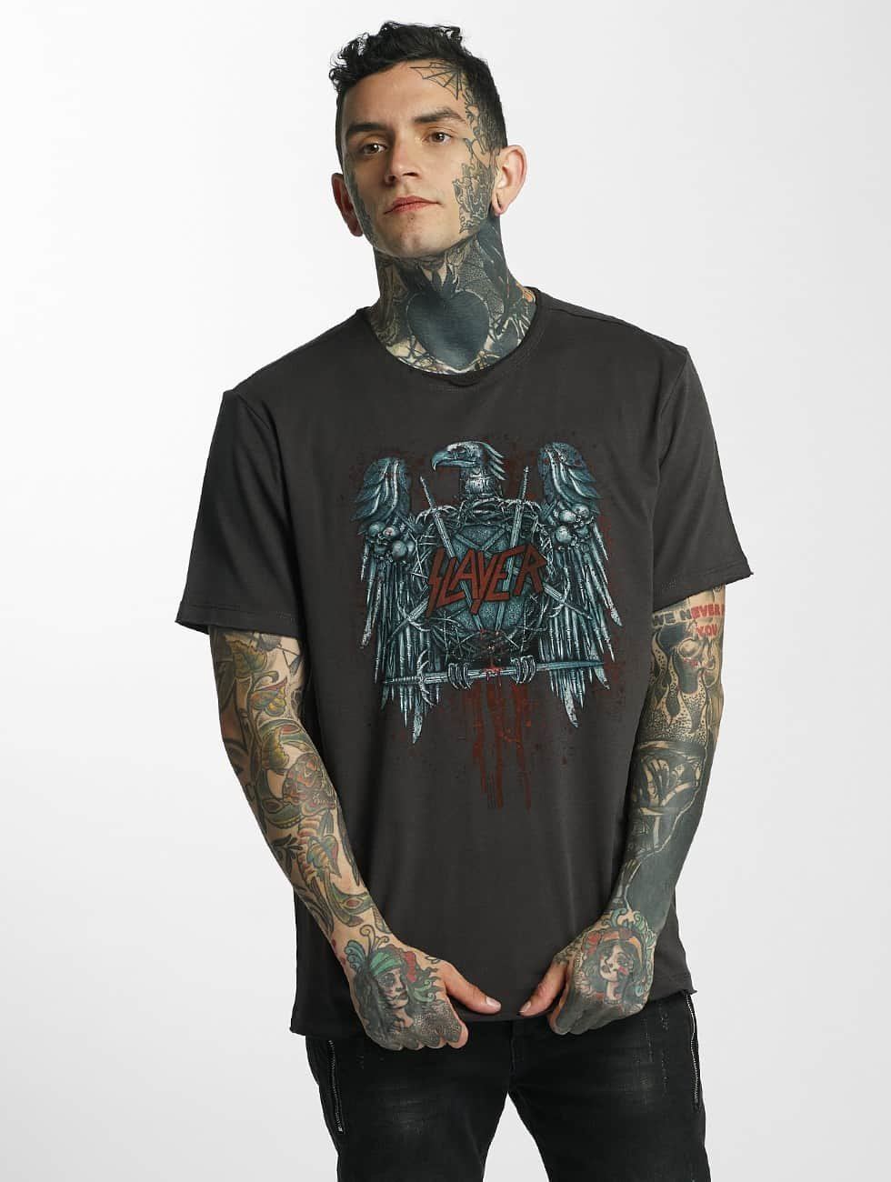 Amplified T-Shirt Slayer Metal Edge gris