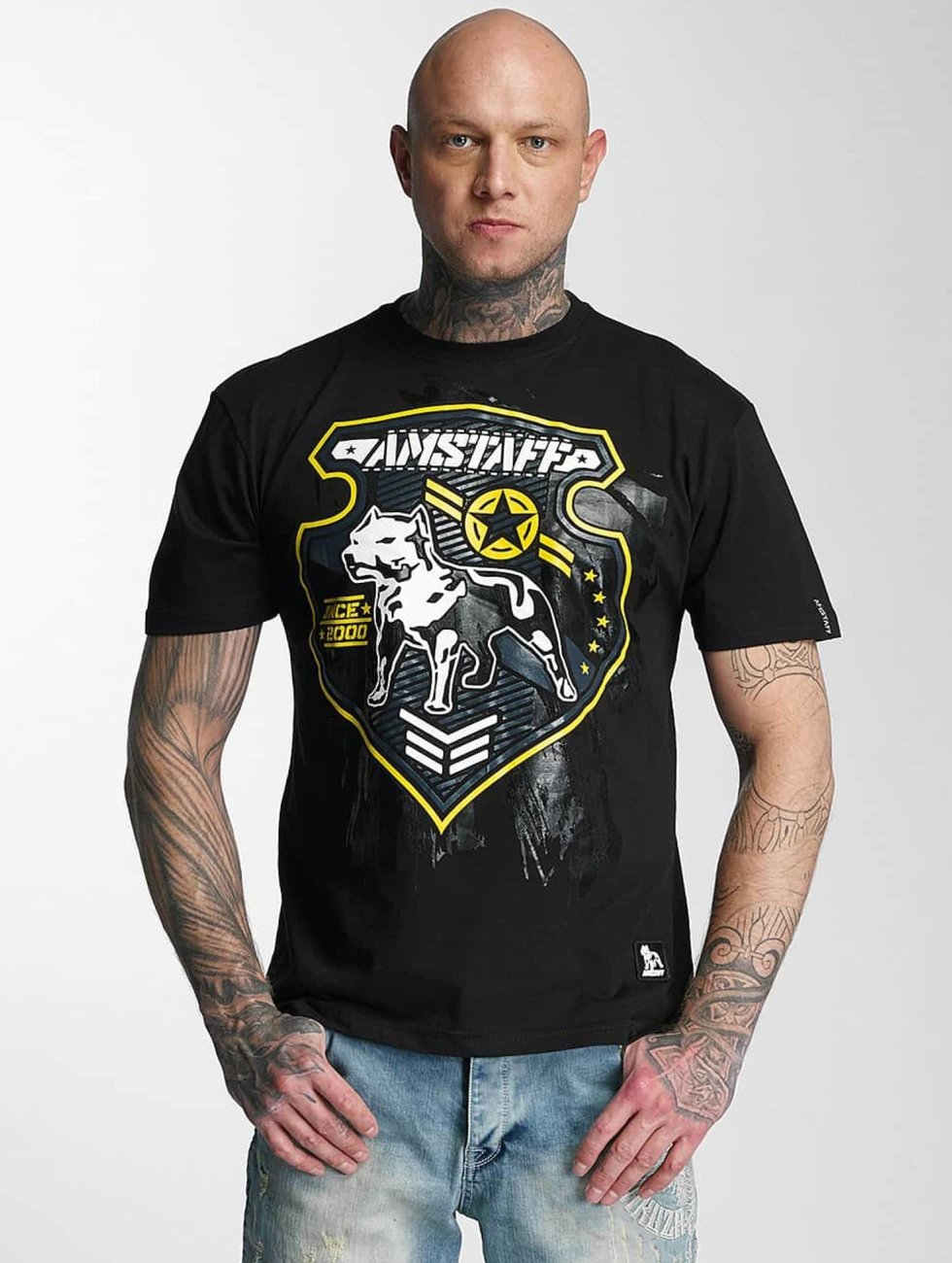 Amstaff T-Shirty Razar czarny