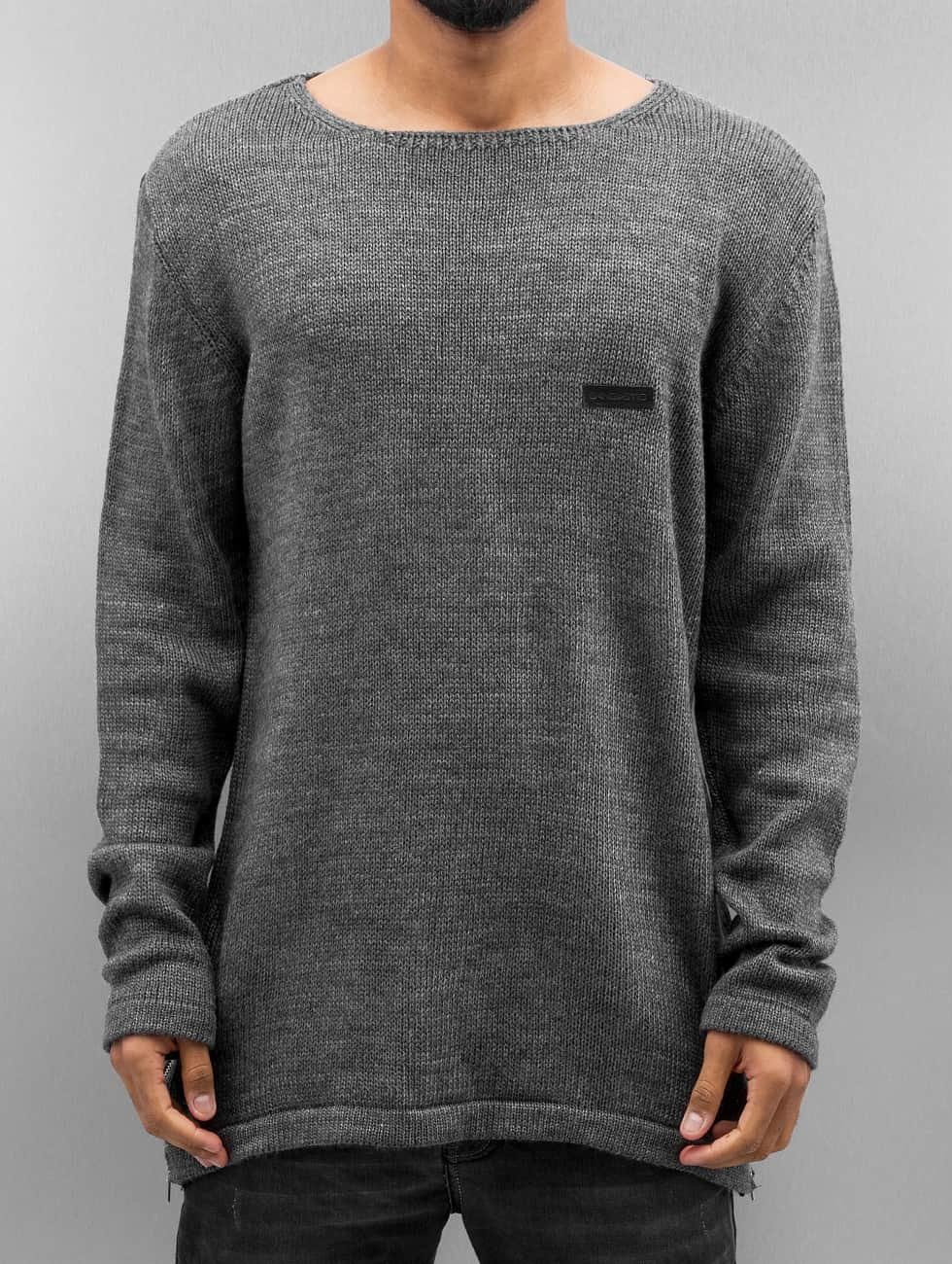 Bangastic Camiseta de manga larga Hoimar gris