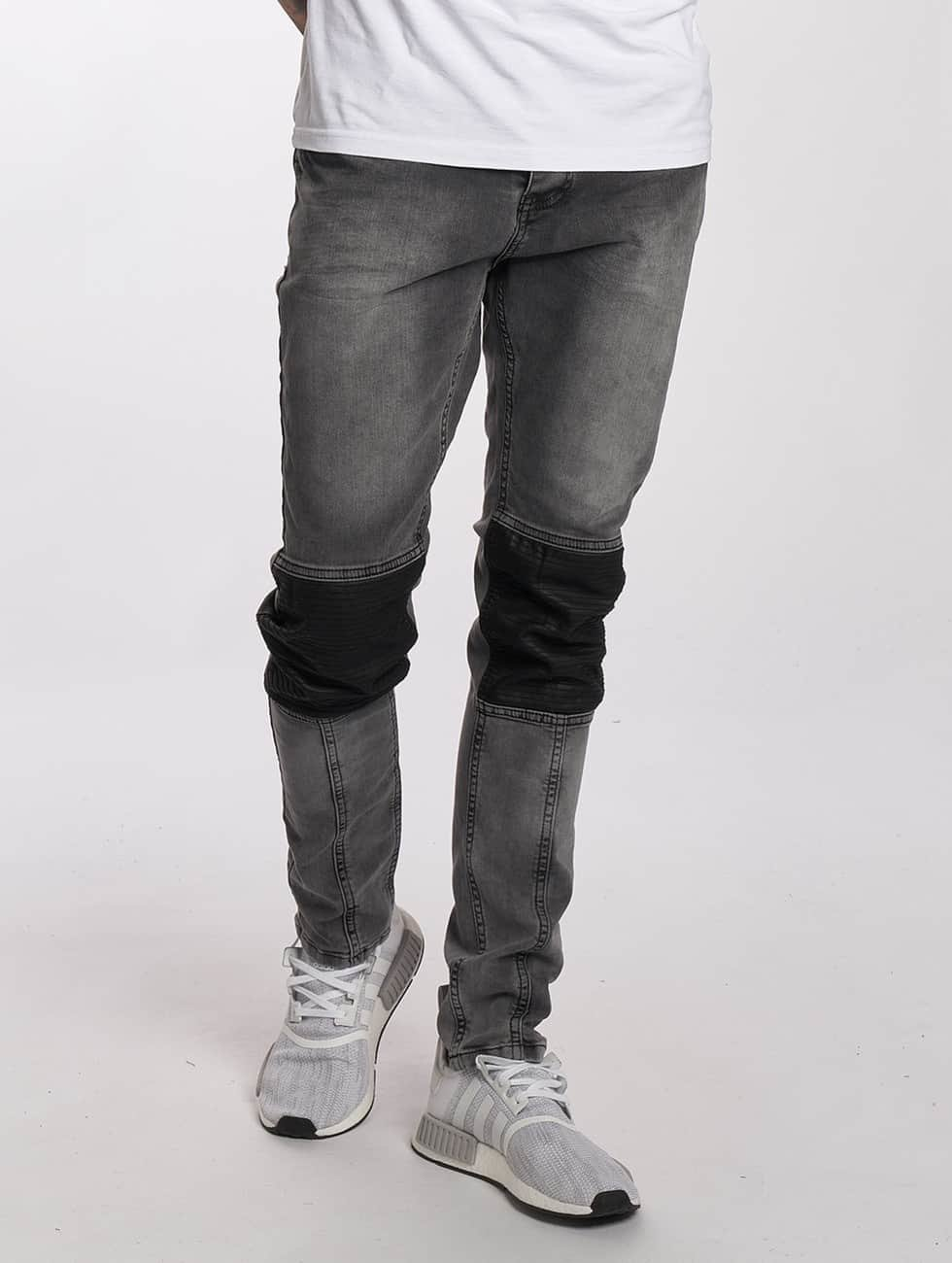 Bangastic Straight Fit Jeans PU grau