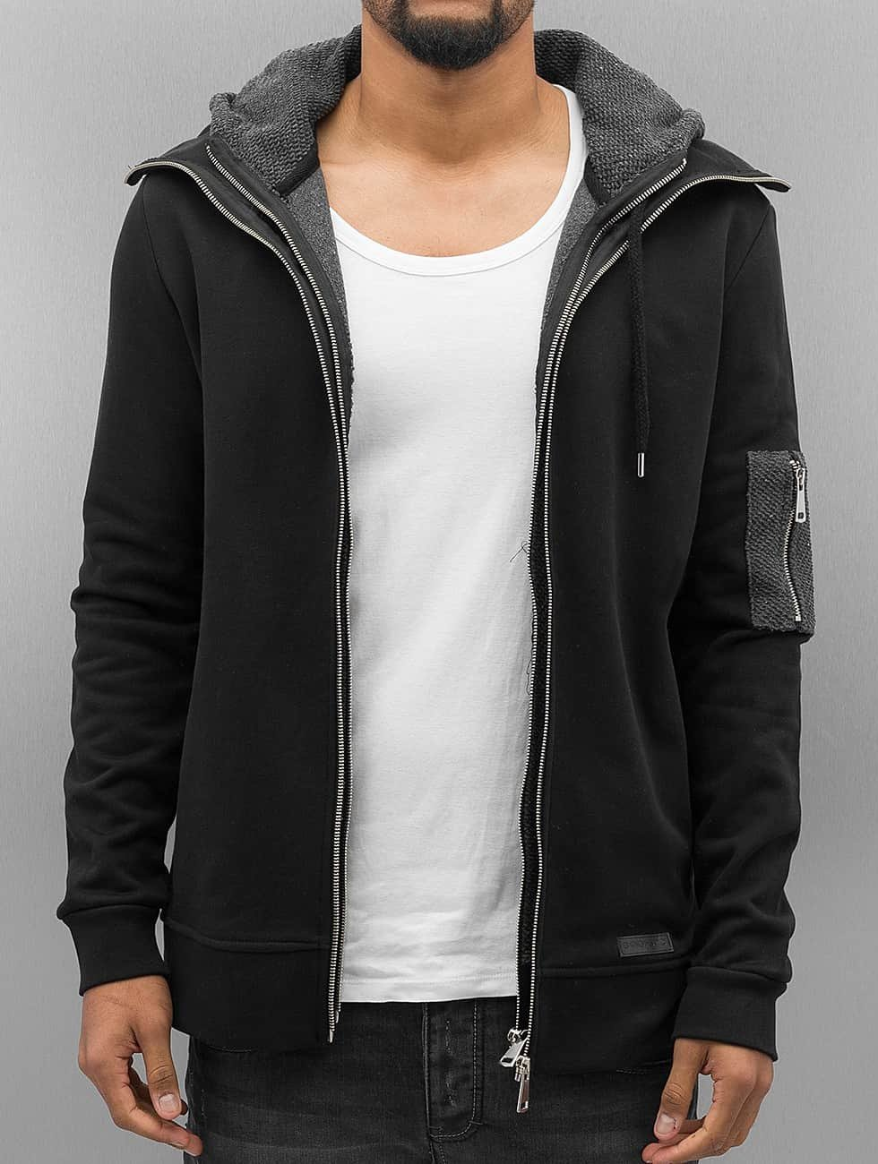 Bangastic Sweat capuche zippé Double noir