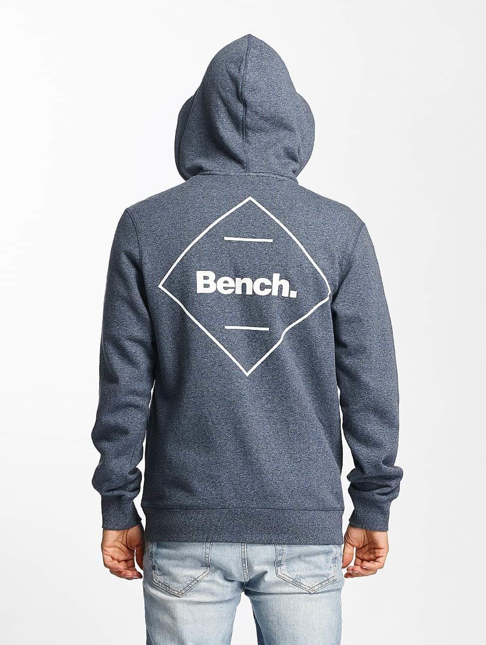 Bench Hoodies con zip Basic blu