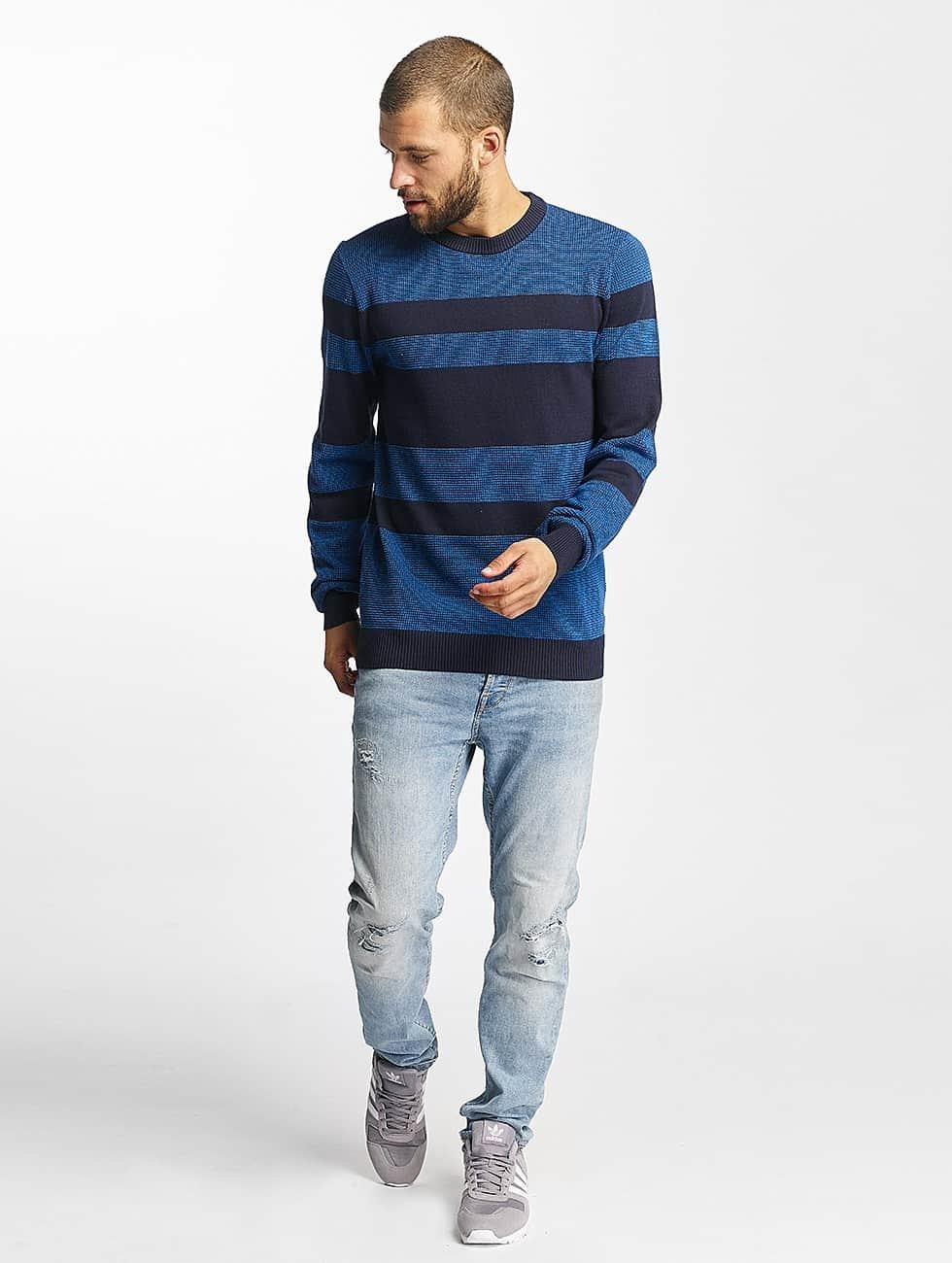 Bench Pullover Structured Stripe blau
